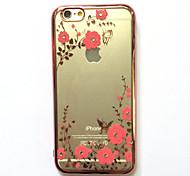 Caso para Apple iphone 7 mais iphone 7 capa capa rhinestone chapeamento padrão capa capa capa suave tpu para 6s mais 6 mais 6s 6 5 5s se