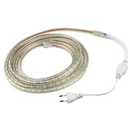 2M 5050 LED Strip Light Waterproof Outdoor IP67 60leds/m Flexible Tape Rope /Warm White /White /Red /Yellow /Blue/ Green andEU Plug(AC 220V-240V)