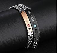 Titanium steel diamond-studded men and women bracelet valentine's day gift