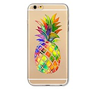 Case for iPhone 7 Plus 7 Cover Transparent Pattern Back Cover Case Fruit Pineapple Soft TPU for Apple iPhone 6s plus 6 Plus 6s 6 SE 5s 5c 5 4s 4