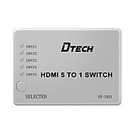 DTech HDMI 1.4 Splitter HDMI 1.4 to HDMI 1.4 Splitter Female - Female 1080P Five Input One Output