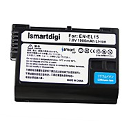 Ismartdigi EL15 7.0v 1900mAh Camera Battery for Nikon Nikon D7000 D7100 1V1 D800 E D600 P520 P530