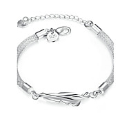 Women's Girls' Chain Bracelet Crystal Geometric Friendship Fashion Bohemian Simple Style Crystal Silver Plated Tube Heart Geometric