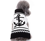 Недорогие -Собака Плащи Свитера Рождество Одежда для собак Для вечеринки Праздник На каждый день Мода Свадьба Спорт Хэллоуин Морской Черный/Белый