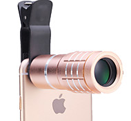 Universal 10× Telescope Lens for Mobile Phones iphone/samsung Silver/Gold/Rose/Black