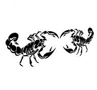 28 * 17см смешной мультяшный скорпион король автомобиля стикер окна автомобиля этикета стены автомобиля стиль (2шт)
