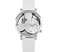 cheap -Women's Quartz Wrist Watch Skeleton Watch Chinese Hot Sale PU Band Casual Cartoon Unique Creative Watch Dress Watch Elegant Fashion Black