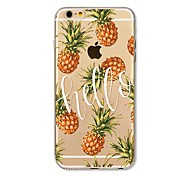 abordables -Funda Para Apple iPhone X iPhone 8 Plus Transparente Diseños Funda Trasera Azulejo Palabra / Frase Fruta Suave TPU para iPhone X iPhone 8