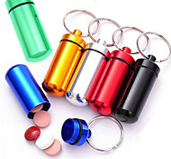 cheap -6Pc Novelty Mini Capsule Shaped Box Bottle Holder Container Keychain Kitchen Storage