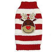 Dog Coat Sweater Dog Clothes Party Holiday Casual/Daily Wedding Fashion Christmas New Year's Reindeer Black Red Blue Costume For Pets