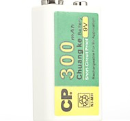 CP NI-MH Rechargeable Battery 300mAh 9V