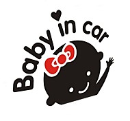 Car decorative stickers for baby in car (Black White)