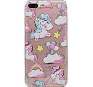 Для яблока iphone 7 7plus phone case tpu материал единорог узор окрашенный корпус телефона 6s плюс 6plus 6s 6 se 5s 5