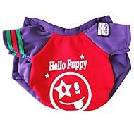Недорогие -Собака Толстовка Одежда для собак На каждый день Буквы и цифры Лиловый Синий Костюм Для домашних животных