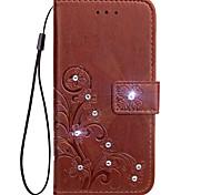 Чехол для nokia lumia 530 630 чехол для карточек держатель кошелек горный хрусталь с подставкой флип тиснение корпус корпус цвет твердый