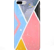 Недорогие -Case for apple iphone 7 plus iphone 7 обложка матовый шаблон задняя крышка случай геометрический узор мягкий tpu для iphone 6s плюс iphone