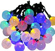 hkv® solar lamps 6m 30led rgb wasserdicht fairy outdoor garten weihnachtsparty dekoration schnur licht