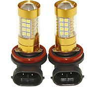 Sencart 2pcs H8 PGJ19-1  Flashing Bulb Led Car Tail Turn Reverse Light Bulb Lamps(White/Red/Blue/Warm White) (DC/AC9-16V)