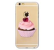 Кейс для Назначение Apple iPhone X iPhone 8 Plus Прозрачный С узором Задняя крышка Композиция с логотипом Apple Продукты питания Мягкий