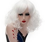 Недорогие -Парики из искусственных волос Кудрявый Стрижка боб плотность Без шапочки-основы Жен. Розовый Белый Парик из натуральных волос Средние