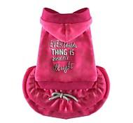 Недорогие -Собака Платья Одежда для собак На каждый день Принцесса Серый Пурпурный Костюм Для домашних животных