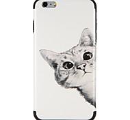 Недорогие -Случай для яблока iphone 7 плюс iphone 7 крышка картины задняя крышка случая кошка мягкая tpu для iphone 6s плюс iphone 6 плюс iphone 6s
