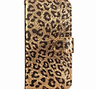 For iPhone X iPhone 8 iPhone 8 Plus Case Cover Wallet Card Holder with Stand Flip Pattern Magnetic Full Body Case Leopard Print Hard PU