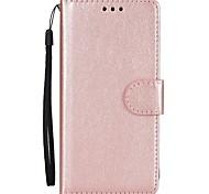 Недорогие -Кейс для Назначение SSamsung Galaxy S8 Plus S8 Кошелек Бумажник для карт со стендом Флип Чехол Сплошной цвет Твердый Искусственная кожа