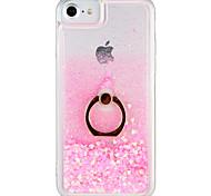 Недорогие -Кейс для Назначение Apple iPhone 7 Plus iPhone 7 Движущаяся жидкость Кольца-держатели Кейс на заднюю панель Сияние и блеск Твердый ПК для