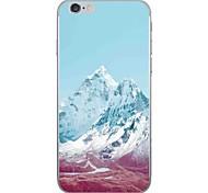 Случай для яблока iphone 7 7 плюс крышка случая снежка горный образец hd покрасили более толстый материал tpu мягкий случай случая