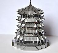 Недорогие -Пазлы Металлические пазлы Китайская архитектура 3D Своими руками Сплав 6 лет и выше