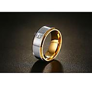 Муж. Классические кольца Цирконий Мода Винтаж бижутерия Титан Сталь Круглой формы Бижутерия Назначение Свадьба Обручение Официальные