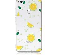 Недорогие -Кейс для Назначение Huawei Huawei P8 Lite Прозрачный С узором Кейс на заднюю панель Фрукты Мягкий ТПУ для P10 Lite P10 P8 Lite (2017)