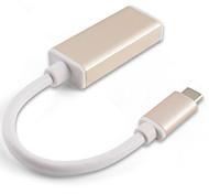 IT-CEO Y2TYPE-CD-M USB 3.1 Type-C to Mini DP 1080P 10Gbps High Speed Adapter For MacBook Pro MacBook 15cm Aluminum PVC