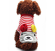 Dog Sweatshirt Dog Clothes Casual/Daily Rabbit/Bunny Red Blue