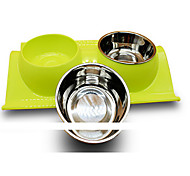 cheap -Cat Dog Bowls & Water Bottles Pet Bowls & Feeding Random Color