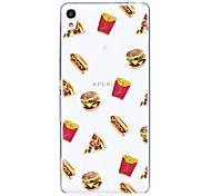 Кейс для sony x xa чехол для гамбургеров шаблон высокий проникающая труба материал царапина телефон чехол для sony e5