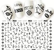 1 Стикер искусства ногтя С рисунком 3-D Компоненты для самостоятельного изготовления макияж Косметические Ногтевой дизайн
