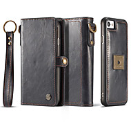 Case for Apple iPhone 7 Plus 7 Card Holder Wallet Magnetic Full Body Solid Color Hard Genuine Leather 6s Plus 6 Plus 6 6s