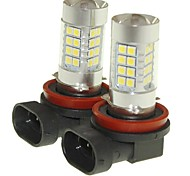 Sencart 2pcs H11 PGJ19-2 Fog Driving Light Headlight Bulbs Lamps(White/Red/Blue/Warm White) (DC/AC9-32V)