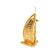 Недорогие -Пазлы Металлические пазлы Игрушки Знаменитое здание Корабль 3D Бурдж аль-Араб Своими руками Медь Металл Универсальные Куски