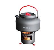 ALOCS Stands Camping Kettle Camping Stove Coffee and Tea Copper Hard Alumina for Picnic Camping & Hiking