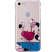 Случай для яблока iphone 7 7 плюс крышка случая фламинго образец tpu материал imd корабль случай мобильного телефона для iphone 6 6s 6