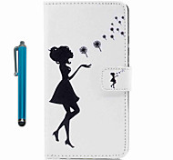 Чехол для iphone touch touch 5 touch 6 case cover полный корпус с стилусом sexy lady hard pu leather