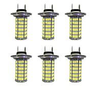 Lampada 4W h7 120smd2835 foglight per auto bianco dc12v 6pcs