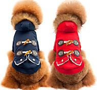 Собака Плащи Одежда для собак Дышащий На каждый день Мода Однотонный Красный Синий Костюм Для домашних животных
