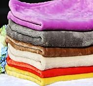Dog Bed Pet Blankets Solid Warm Foldable Soft Random Color
