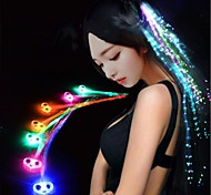 1PCS Butterfly Colorful Flash LED Hair Braid Clip Hairpin Decoration for Show Party Dance Ramdon Color