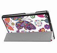 Недорогие -Кейс для Назначение Huawei Чехол планшетный случаи С узором Черный и белый Твердый Кожа PU для
