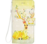 Case For iPhone 7 Plus 7 3D Effect Sika Deer Pattern Inner Band Chart PU Material Wallet Section Phone Case 6 Plus 6S 5 SE